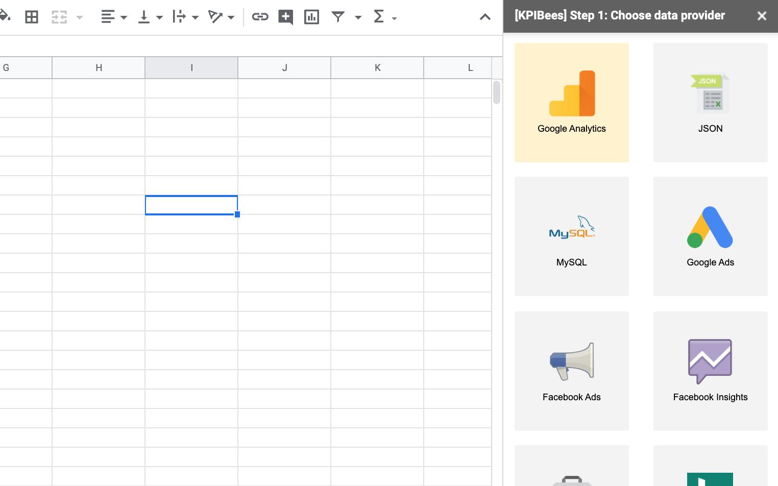 Select mysql integration to google sheets